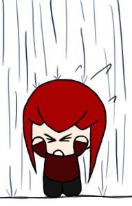 Rain isn't fun when it's falling on your head.