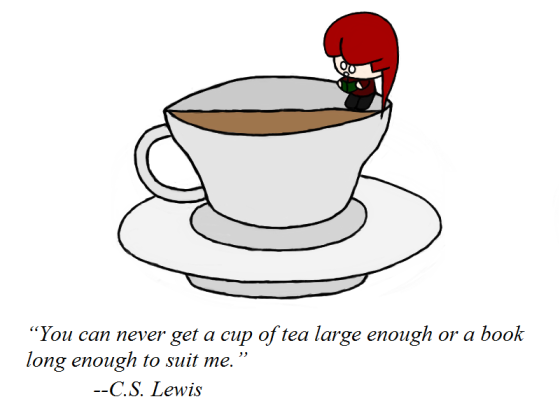 Not enough book, but maybe enough tea.