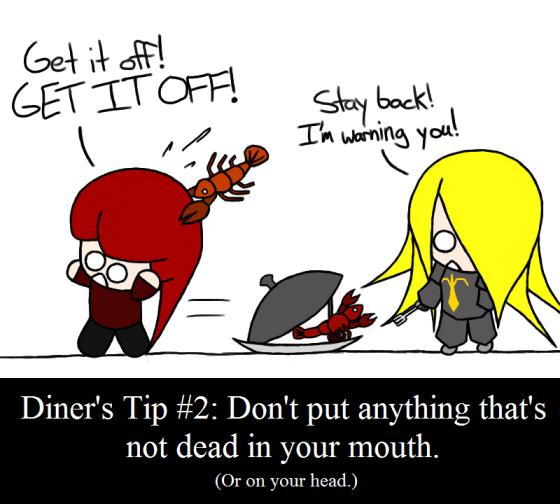 Food fights back!