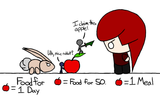An apple is worth a lot to everyone! ...Why don't you just share?