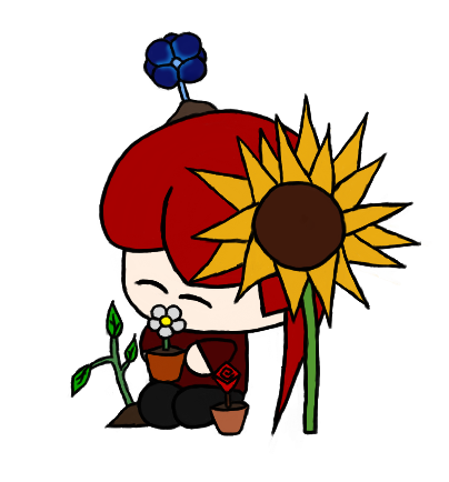Flowers, flowers everywhere! Even on your head!