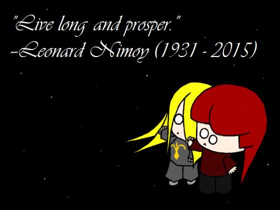 Goodbye, Spock.
