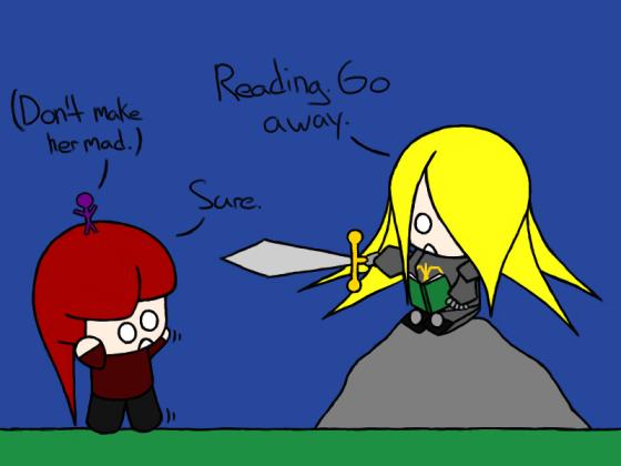 Knight's a dedicated reader.