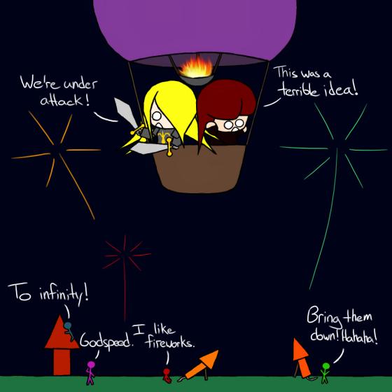 Fireworks are dangerous, kids!