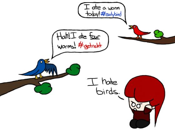 #shutupbirds
