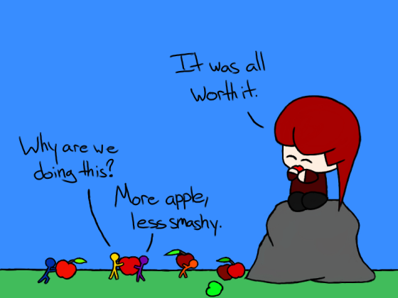 As long as there are apples, no one gets hurt.