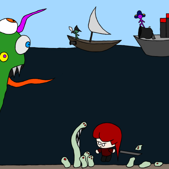 The sea doesn't belong just to monsters!